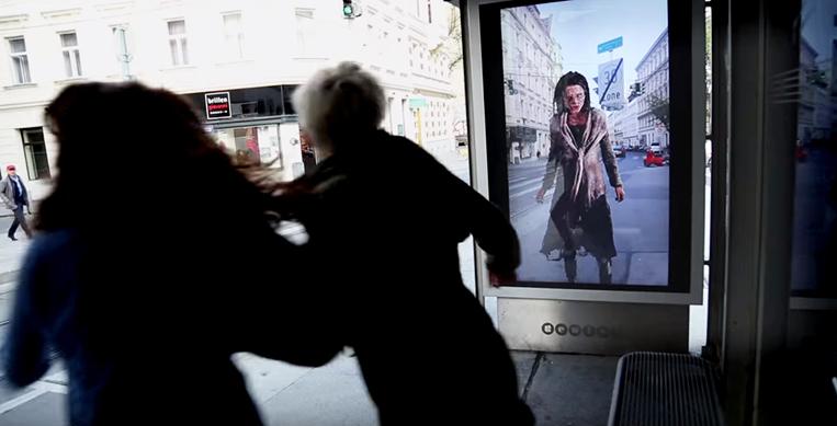 Yaratıcı Açık Hava Reklamı - Durakta Zombi Saldırısı